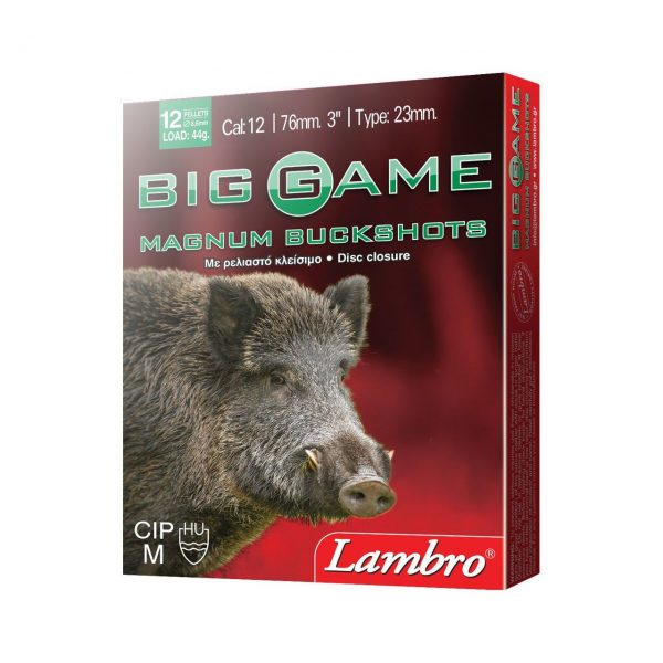 Cartridges for Hunting Big Game Buckshots Magnum